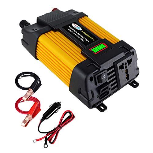 CUHAWUDBA Wechselrichter 4000W Spannungswandler Modifizierter Sinus Wechselrichter DC12V zu AC 220V + 2 USB