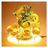 XIAOGING Dragon Ball Bola de Cristal Luz Soporte de la Base Shenlong Golden Dragon Rey Mono Figura Combinación Modelo Saiyan (Color : A)