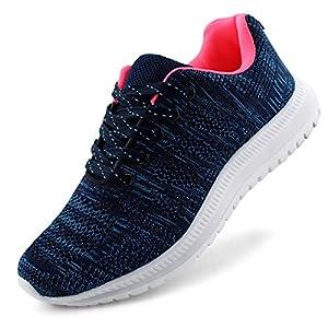 JABASIC Women Lightweight Knit Running Shoes Athletic Walking Sneakers (5,Navy)