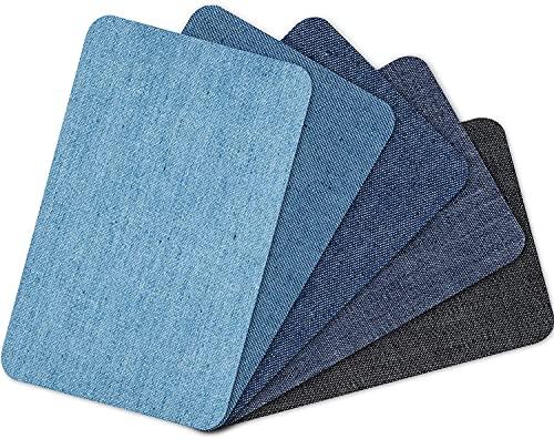 yumcute 30 Stück Flicken zum aufbügeln Jeans,Kinder und Erwachsene 30 Stück Stärkster Kleber 100% Baumwolle Flicken Bügelflicken Bügeleisen Denim Patches Jeans Reparatursatz Set Aufbügelflicken