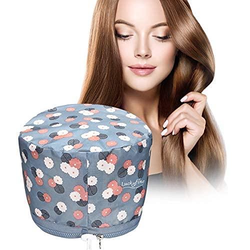 Cura dei Capelli, Trattamento per Capelli Caldo Luckyfine Vapore Portatile Cappello di Bellezza SPA Cappello Vapore Capelli Nutrizionali