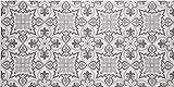 Baroni - Alfombrilla para Cocina antideslizante con estampado de Azulejos Cementina Gris 60x120cm