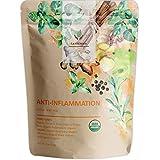Gardenika Anti Inflammatory Loose Leaf Herbal Tea, Turmeric, Ginger, Peppermint, Ayurvedic, USDA Certified Organic, Caffeine Free Botanicals Blend, Wellness and Immune Support, 25+ Cups - 4 oz