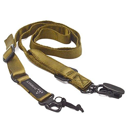Multi usages tactiques longe épaule Sling réglable sangle ceinture en sangle pour les Sports de plein air chasse CS jeux kaki