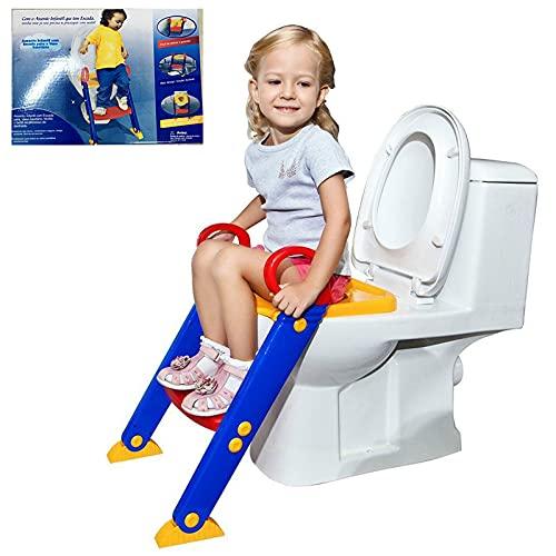 Reductor WC niños Aseo Asiento,Asiento con Escalera para Bebés,Adaptador WC Niños con...