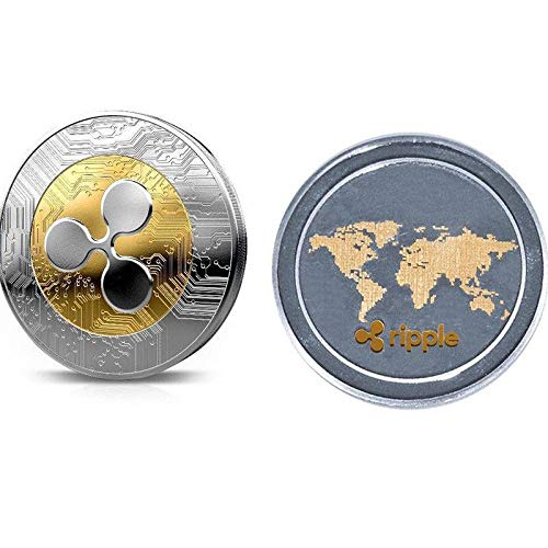 New 1pcs Ripple Coin XRP Crypto Commemorative Ripple XRP Collectors Coin Gift Coin Art Collection Physical Gold Commemorative