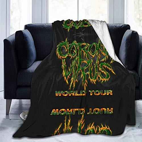 Twifon Blankets Queen Size Cor&-Onavirus World Tour Micro Fleece Blanket Warm Throw Ultra-Soft Lightweight Plush Bed Couch Living Room