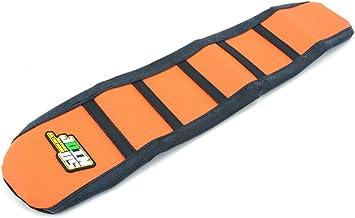 Piel de la Cubierta del Asiento de Goma Suave del agarrador para 2009-2014 KTM 65 SX Dirt Bike Naranja/Negro