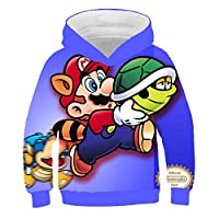 Cartoon Anime Children Mario Bros Hoodies Kids Clothed Streetwear Hip Hop Sweatshirt Baby Boy Girls Clothing Long Sleeve Top
