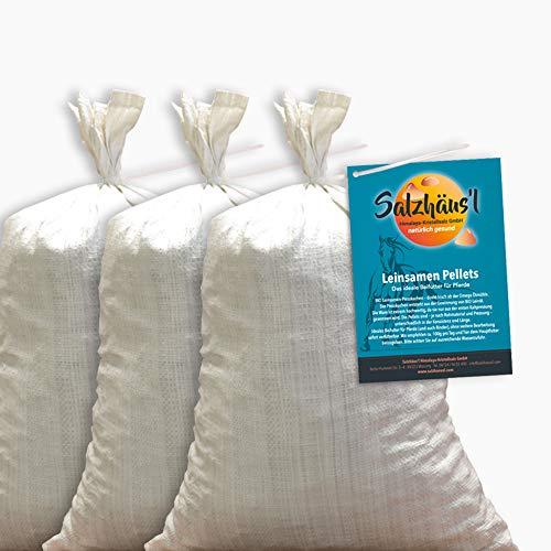 BIO Leinsamen Pellets frisch gepresst 3 x 10 kg /Juni-AKTION 2 +1 GRATIS / Ölmühle Omega / Pferdefutter / Momentan keine Lieferung ins Ausland!