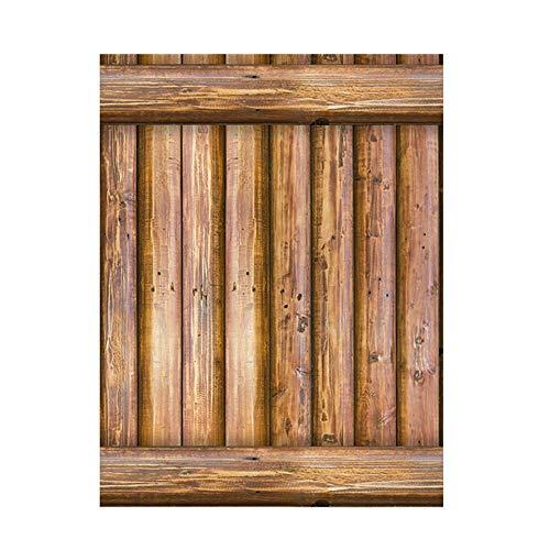 Vneirw Tapete Holzoptik Vintage,Holzmaserung 3D Wall Sticke Ziegel Holz Rustikal Effekt Selbstklebende Abnehmbarer Tür Aufkleber Wandaufkleber Wandtattoo,45 × 100cm (A)