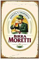 ビルラモレッティイタリアイタリアビールレトロブリキ看板