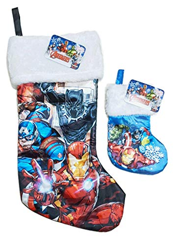 Ruz Disney Toy Story Star Wars Darth Vader Spiderman Marvel Avengers DC Comics Batman Peanuts Snoopy Christmas Stocking Sets (Marvel Avengers)