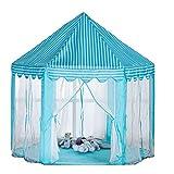 Unbekannt Kinderzelt Spielhaus Hex Kinderzelt Faltbare Prinzessin Markise Spielhaus Blau