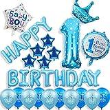 JSJJARF Globos Primer Cumpleaños 1 año de Edad Decoraciones de Fiesta Crown Feliz cumpleaños Foil Balloons 12 Pulgadas látex Helio (Color : 4)