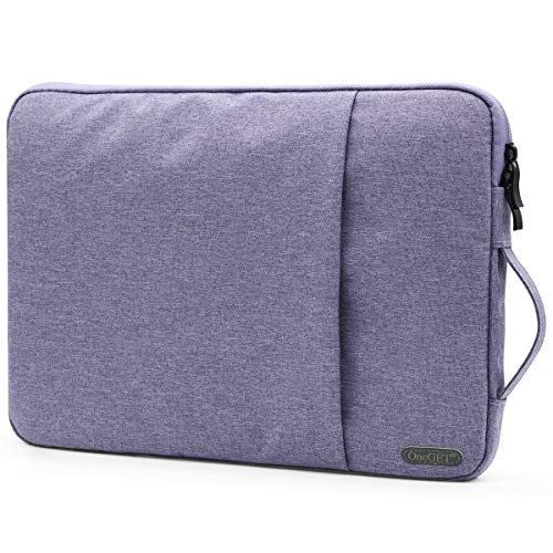 OneGET Laptop Sleeve for 2020 13 Inch MacbooK Internal Fluff Laptop Bag With Accessory Pocket, Protective Carrying Case Cover for 13' Lenovo Dell Hp Asus Acer Chromebook(13-13.3Inch, Lavender)