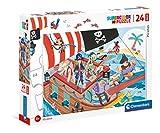 Clementoni- Piratas Pippi Langstrom Puzzle Infantil, Multicolor (24209)