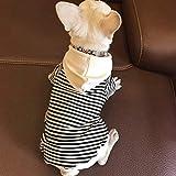 N/A Ropa para Perros Ropa para Perros para Perros Pequeños Camiseta De Verano con Bulldog Francés Ropa De Algodón para Mascotas para Chihuahua Camiseta para Cachorros Yorkie