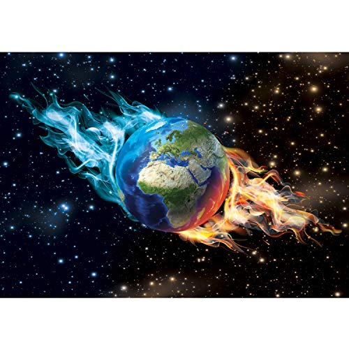 Vlies Fototapete PREMIUM PLUS Wand Foto Tapete Wand Bild Vliestapete - Erde Welt Weltraum Sternenhimmel Weltraum Galaxie - no. 2437, Größe:368x254cm Blueback Papier