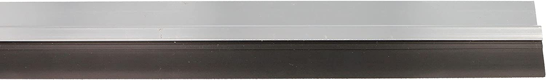 amig 22560 - Burlete Modelo 5, Burlete adhesivo de sobreponer, Cepillo de PVC semirrígido, 1 m, Plata, Aluminio