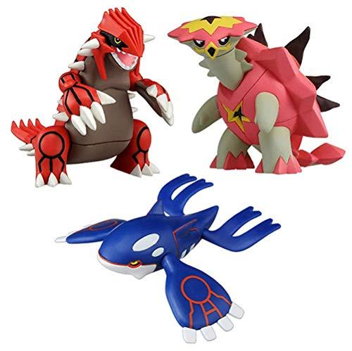 Ltong Pokemon 9Cm Groudon Kyogre Turtonator Actionfigur Modell Cartoon Anime Geschenke Spielzeug Für Kinder 3 STK