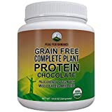 Organic Paleo Grain Free Plant Based Protein Powder. Complete Raw Organic Vegan Protein Powder. Amazing Amino Acid Profile and Less Than 1g of Sugar. Hemp Protein Powder, Pea Protein Powder Chocolate