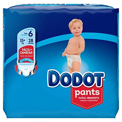 Dodot Pants - Pañales, Talla 6 (+15 kg) 28 unidades