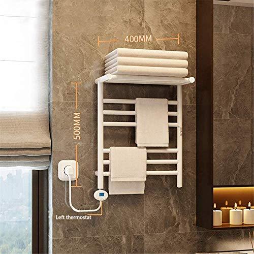 Rieles para toallas con calefacción Calentador de toallas, toallero eléctrico con termostato Secado térmico rápido Esterilización IPX4 Termostato de actualización a prueba de agua Modo de control de c
