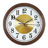 Reloj de pared decorativo Reloje de pared modernon Reloj de pared de madera maciza Marco de nuez Reloj redondo Reloj de pared Sala de estar Atmósfera silenciosa Reloj de moda Decoración del hogar Relo