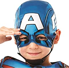 Rubie's 640833M Official Marvel Avengers Captain America Deluxe Child Costume, Boys, Medium Age 5-6, Height 116 cm #4