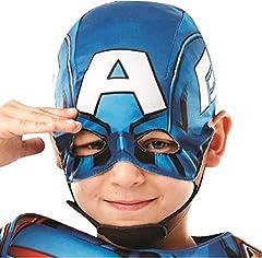 Rubie's 640833M Official Marvel Avengers Captain America Deluxe Child Costume, Boys, Medium Age 5-6, Height 116 cm #4