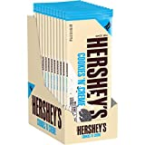 HERSHEY'S Chocolate Extra Large Cookies 'n' Crème bars, Easter Candy (Pack of 12)