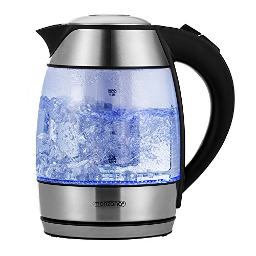Bouilloire électrique avec éclairage inté. LED et passoire à thé - 1,8L max. 2200W Sans BPA