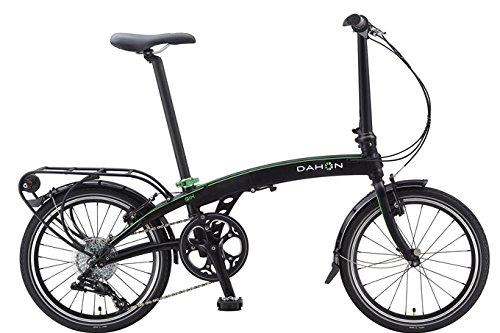 Dahon Qix D8-Bicicleta Plegable, Color Negro Mate, 8 V