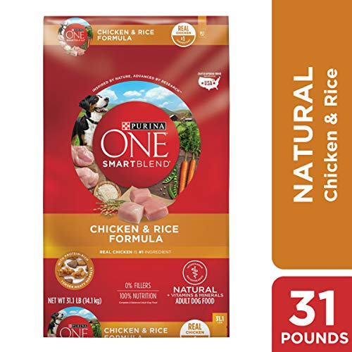 Purina ONE Natural Dry Dog Food, SmartBlend Chicken & Rice Formula - 31.1 Lb