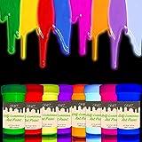 CRAFT by individuall Craft - Pintura acrílica que brilla en la oscuridad, 8 x 20 ml