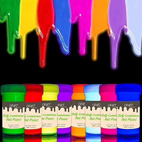 INDIVIDUALL Glow in the Dark Acrylic Paint Set