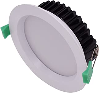 6Pcs Rcessed 13W 90mm Cutout Dimmable LED Downlight Kit 950lm Warm White 3000K Concave Frame 5 Yrs Warranty