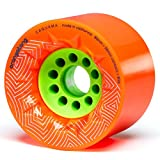 Orangatang Caguama 85 mm 80a Downhill Longboard Skateboard Cruising Wheels (Orange, Set of 4)