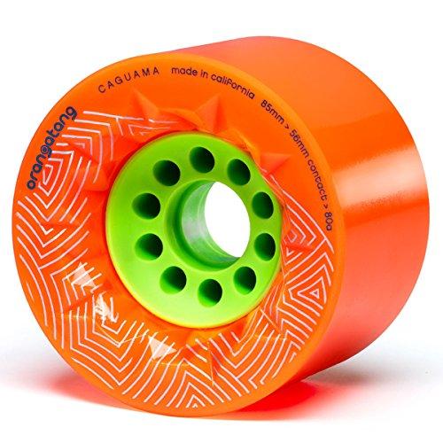 Orangatang Caguama Skateboard-Rad, Orange, 80A, Without Bearings