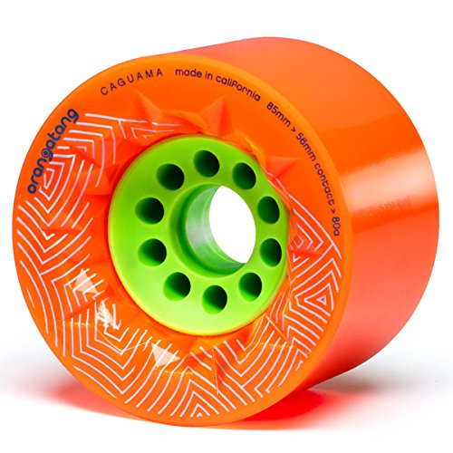 Orangatang Caguama Skateboard-Rad, Orange, 80A, Without Bearings