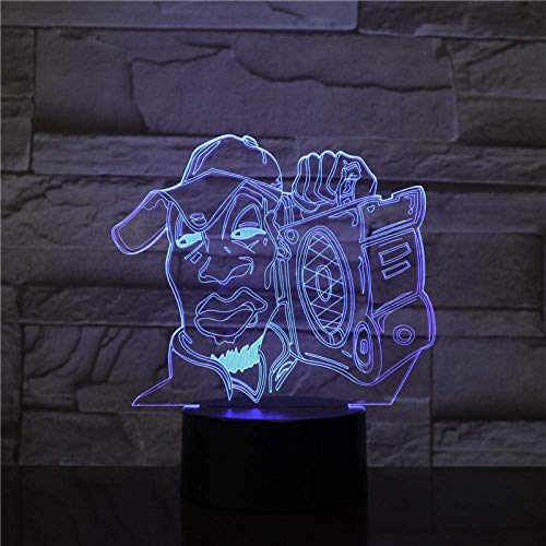 Lámpara de ilusión 3D Luz de noche LED Quasimodo Notre Dame De Paris Visual Touch USB Lámpara de mesa Decoración Los mejores regalos de vacaciones de cumpleaños para niños