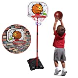 SOWOW Toddler Basketball Hoop Indoor Basketball Stand for Kid Adjustable Basketball Set Outdoor Toys for Toddler Age 3 Basketball Goal Toys for 2 Year Old boy Kid Basketball Hoop for Toddler