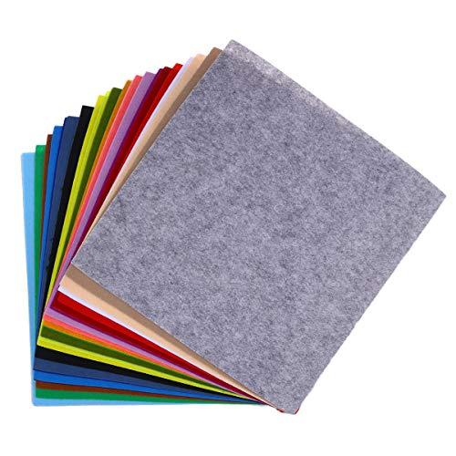 Toyvian Hoja de Tela de Fieltro de 40 Piezas Surtido de Fieltro de Color Paquete de Bricolaje Cuadrados de artesanía no Tejida para proyectos de artesanía de Costura de Patchwork (40 Colores)