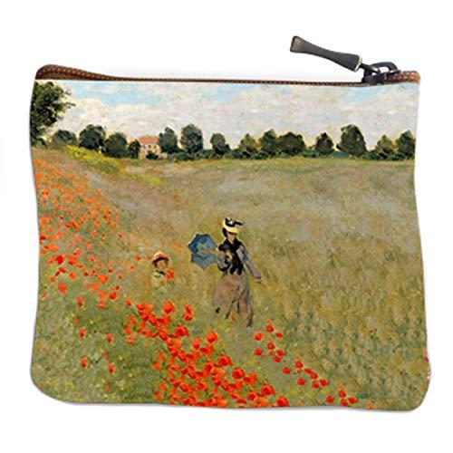 Les Trésors De Lily [Q6649] - Handgefertigte Geldbörse \'Claude Monet\' (Mohnblumen) - 12x10 cm.