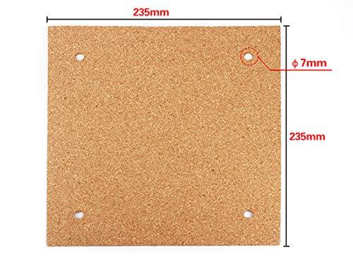 Creality Ender 3 Beheiztes Bett Kork Thermo-Isolator Hot Bed Bottom Isolierplatte 3M Klebeband vorangebracht für 3D-Drucker 235 x 235 x 3 mm Eewolf
