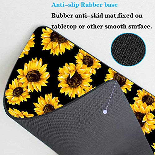 Mouse Pad,Sunflower Design Rectangular Non-Slip Rubber Mouse Pad and Microfiber Glasses Cloth, Mouse Pad for Laptop,Computers & Office (9.4 x 7.87 x 0.1 Inch) Photo #4