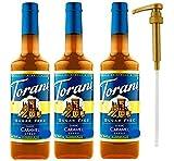Torani Sugar Free Caramel Classic Syrup, 25.4 Ounce (3 Pack) Plus 1 Syrup Pump