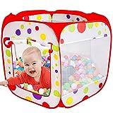 MAIKEHIGH XXL Bällebad Spielzelt für Baby, Faltbare und Tragbare Große Pop-Up- Bällebad Zelt Ball Pool, Kinder Kleinkind Spielzeug Geschenk Indoor Outdoor (Bälle Nicht Enthalten)