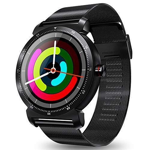 TCYLZ Smartwatch K88H Plus, runder Farbbildschirm, für Männer und Frauen, Fitness-Tracker, Schlaf- und Blutdruckmessgerät, Kalorien-/Schrittzähler, für Android und iOS